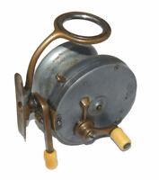 "Extra rare ""Malloch Patent Multi Mode"" geared alloy side cast reel, salmon size"