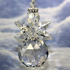 Xl Clear Chubby Crystal Guardian Angel m/w Swarovski & Crystal Ball Suncatcher