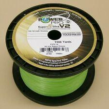 Power Pro Super Slick V2 Braid Fishing Line 20lb Test 1500 Yd Hi-Vis Aqua Green