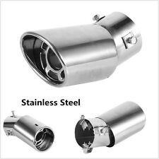 Universal Stainless Steel Chrome Car SUV Round Exhaust Pipe Tail Muffler End Tip