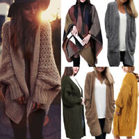 Women Long Cardigan Knitted Loose Sweater Coats Jacket Jumper Outwear Winter Lot