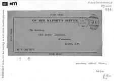 """M77 1898 kent. chiffres. les fonctionnaires. notes: inhabituel ohms objet. """"garçon copiste"""""""