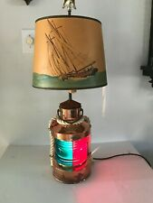 Tweekleur Copper Ship Lantern Converted Lamp Vintage