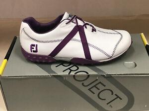 NEW FootJoy 95622 M-Project White/Purple Womens Golf 9.5M WATERPROOF Were $135