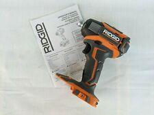 "NEW Ridgid R86035 18V ¼"" Cordless Impact Driver w/Quick Release Chuck -Bare Tool"