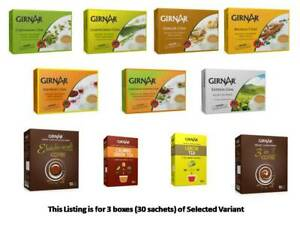 Girnar Instant Tea Premix Pack of 3 Choose from 11 Variants from India
