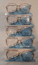 Vintage 5 pc. Cheryl Tiegs CT-92 Rose 57/15 Eyeglass Frame Lot New/Old Stock