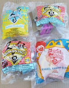 McDonald's Wendy's Happy meal toys lot of 4 Animaniacs Goodfeathers Wackko  NEW