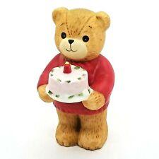 Vintage Lucy & Me 1983 Birthday Cake Bear Ceramic Collectible Teddy Bears Enesco