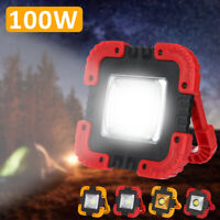 100W USB Rechargeable Solar LED COB Work Light Emergency Lamp Floodlight New RF