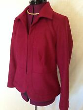 Chico's Red Jacket SZ 1 (US Medium 8/10) Eye-hook Closure