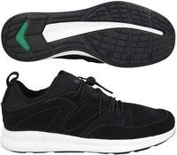 Puma Blaze Ignite Mens Suede Trainers Casual Cushioned Sneakers Black