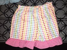 18 m Custom made boutique floral shorts pink gingham ruffle EUC