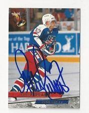 93/94 Ultra Autographed Hockey Card Peter Ferraro Team USA