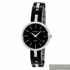 ADORA Uhr TS3870 Damen Armbanduhr mit Keramik-Elementen in schwarz