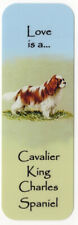 CAVALIER KING CHARLES SPANIEL BEAUTIFUL DOG BOOKMARK IMAGE BOTH SIDES GREAT GIFT
