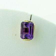 morado-púrpura Amatista Enchufe de oído en oro de 14 ct 8x6 mm macizo Valor ca