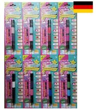 Creative Nails Peel off Nail Art Pen Nagellack und Dekospitze XXL Set 16 Farben