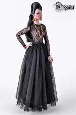 ELENPRIV black tutu ballet maxi skirt for Fashion royalty FR16 Sybarite dolls