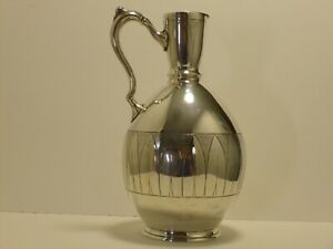 Christopher Dresser Aesthetic Movement Walker & Hall Silver Plated Carafe No Res