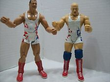 KURT ANGLE LOOSE FIGURE LOT OF 2 WWE/WWF