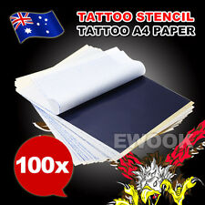 100 Pcs 4 Layers A4 Size Carbon Stencil Thermal Tattoo Transfer Paper Copier Kit