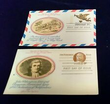 Set 2 1975  Cachet FDC Vignettes of Americana Postcard  Airmail Domestic