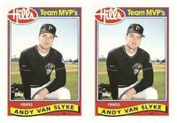 (2) 1989 Topps Hills Team MVP's Baseball #30 Andy Van Slyke Card Lot Pirates