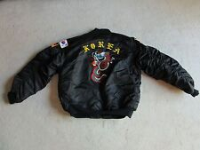 "Vintage Embroidered Korea Tour Souvenir Nylon Jacket ""Kimberly"" Size L"