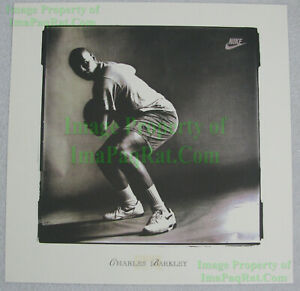 NITF Vintage ☆ NIKE Basketball Poster ☆ AIR FORCE ☆ Charles Barkley Promo Photo