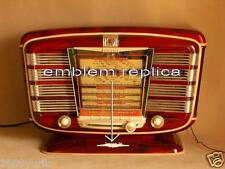 Russian Soviet USSR Vintage Tube Radio Zvezda 54 emblem replica