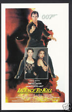 James Bond 007 Movie Postcard -  US Poster For Licence To Kill   DP98