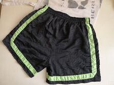 Boxer shorts short 80er Nylon Brillant shiny L Noir true vintage 80s vacances