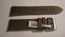 GENUINE TORGOEN BAND  NYLON & LEATHER 24MM Light Brown. BRAND NEW!