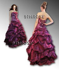WOW! SPLENDID BEADED STRAPLESS FORMAL/PROM/BALL GOWN Amaranth AU 10/US 8