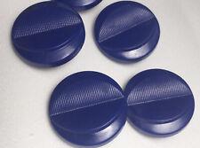Vintage Navy Blue Buttons Plastic Textured Shank Style Lot Lip Design Retro VTG