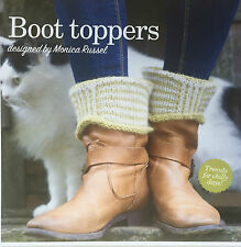 KNITTING PATTERN Ladies Striped Welly Boot Toppers Alpaca Socks Accessory MAKE