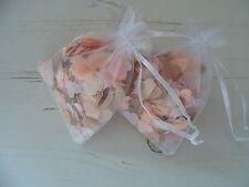 1 organza Sac Avec or Rose/Cuivre Rose Pêche Ivoire Mariage Confettis Décoration