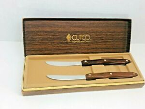CUTCO Set of 2 Classic No. 59 Straight Edge Table Steak Knives 2147079 with Box