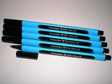 5 x Schneider Slider Edge XB Kugelschreiber schwarz 152201 Viscoglide-Technology