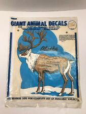 Vintage Alaska Elk Fascal Decal Fasson Products For Camper Trailer Boat NOS