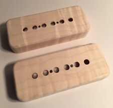 Guilford Flame Maple P-90 Pickup Covers -2 Covers Fits Gibson, Lollar - USA