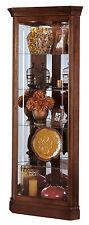 Howard Miller 680-345 (680345) Lyndwood Lighted Curio Cabinet - Windsor Cherry