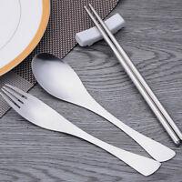 Stainless Steel Cutlery Dinnerware Sets Fork Chopsticks Sets Tableware Spoon