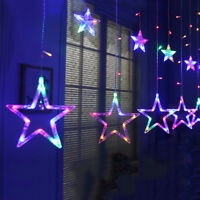 2m 138 LED Fairy String Light Star Curtain Christmas Party Wedding Decor US / EU