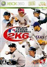 Used Xbox 360 League Baseball 2K6 MICROSOFT JAPAN JP JAPANESE JAPONAIS IMPORT
