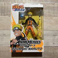 "Bandai Anime Heroes Naruto Shippuden Uzumaki Naruto 6"" Action Figure NEW IN BOX"