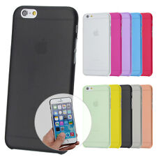 UltraSlim Case iPhone 6 6S Plus Matt Clear Schutz Hülle Skin Cover Schale Folie