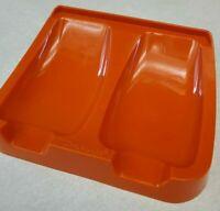 Tupperware Double Spoon Rest Harvest Orange #1226 Vintage Countertop Cradle MCM