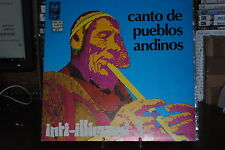 "INTI ILLIMANI 3 CANTO DE PUEBLOS ANDINO  LP 12"" 33 GIRI"